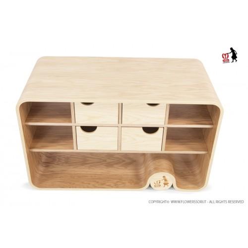 Flowerssori kommode cat 0 design beim holzspielzeug profi for Holzspielzeug profi