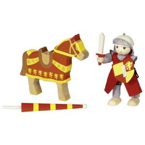 goki Ritter Artus: Biegepüppchen mit Pferd - Holzspielzeug Profi