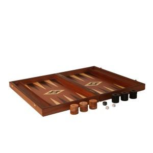 Übergames Backgammon Mahagoni - Holzspielzeug Profi