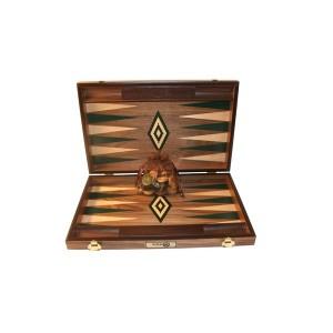 Übergames Backgammon Walnuss grün - Holzspielzeug Profi