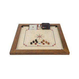 Übergames Carrom Championship Set - Holzspielzeug Profi
