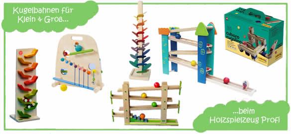 Murmelbahnen beim Holzspielzeug Profi
