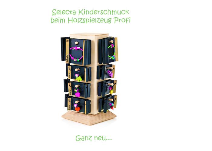 toller kinderschmuck von selecta zum sammeln beim holzspielzeug profi. Black Bedroom Furniture Sets. Home Design Ideas