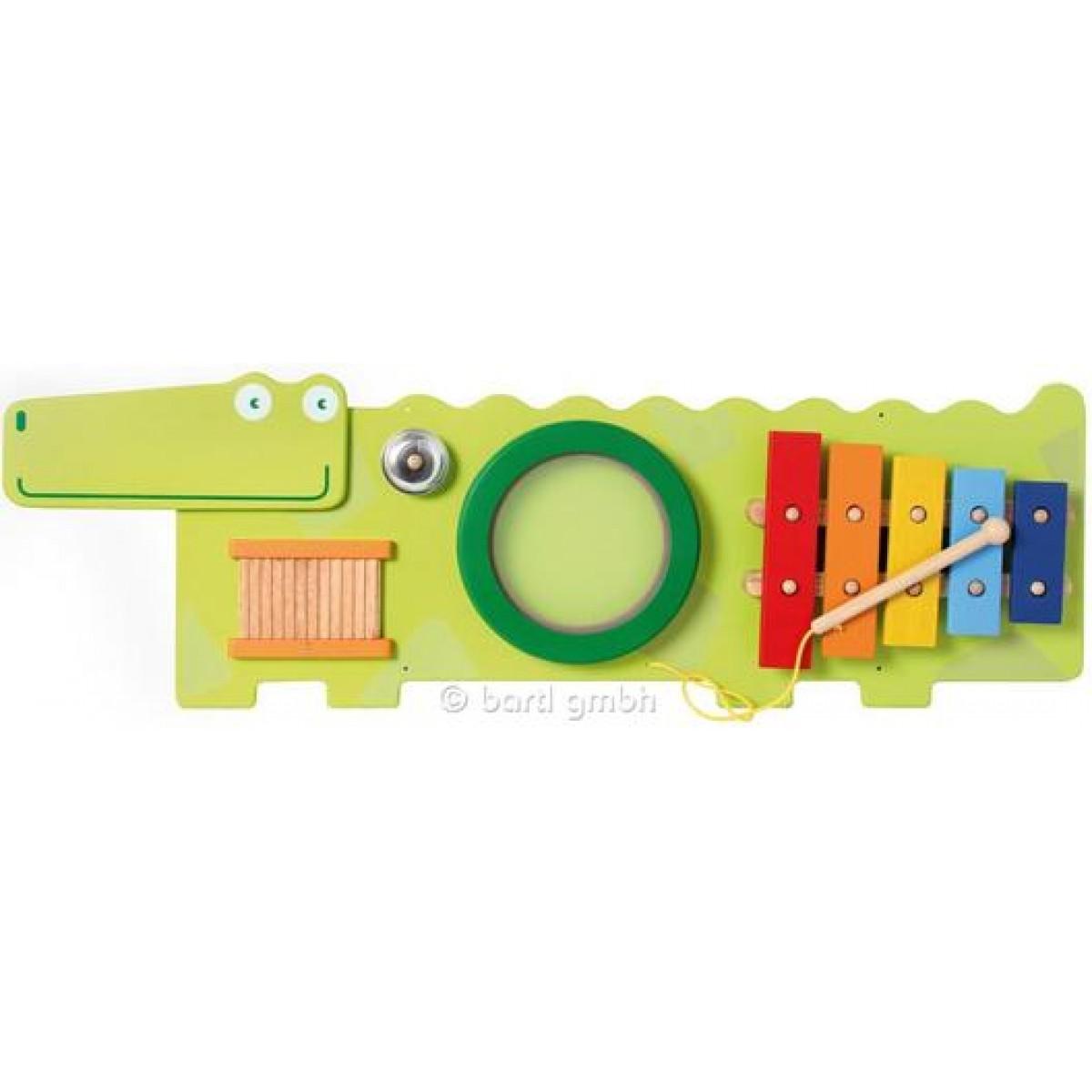 i m toy wandspiel krokodil zum musizieren beim holzspielzeug profi. Black Bedroom Furniture Sets. Home Design Ideas