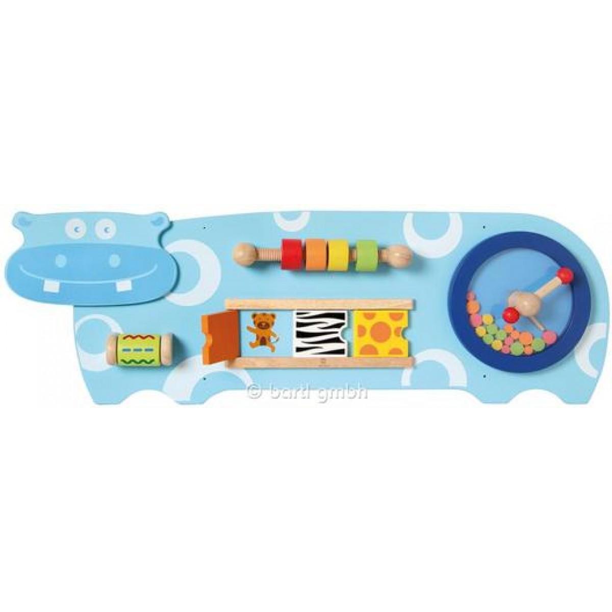 i m toy wandspiel hippo mit 4 lehrreichen spielen holzspielzeug profi. Black Bedroom Furniture Sets. Home Design Ideas