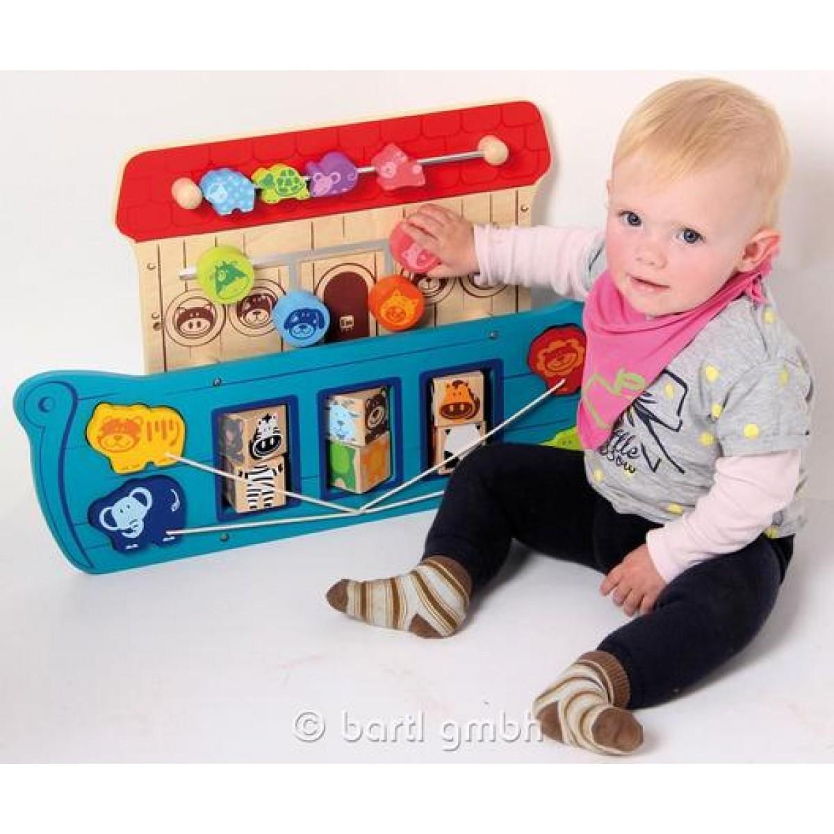 i m toy wandspiel arche mit 4 lehrreichen spielen holzspielzeug profi. Black Bedroom Furniture Sets. Home Design Ideas