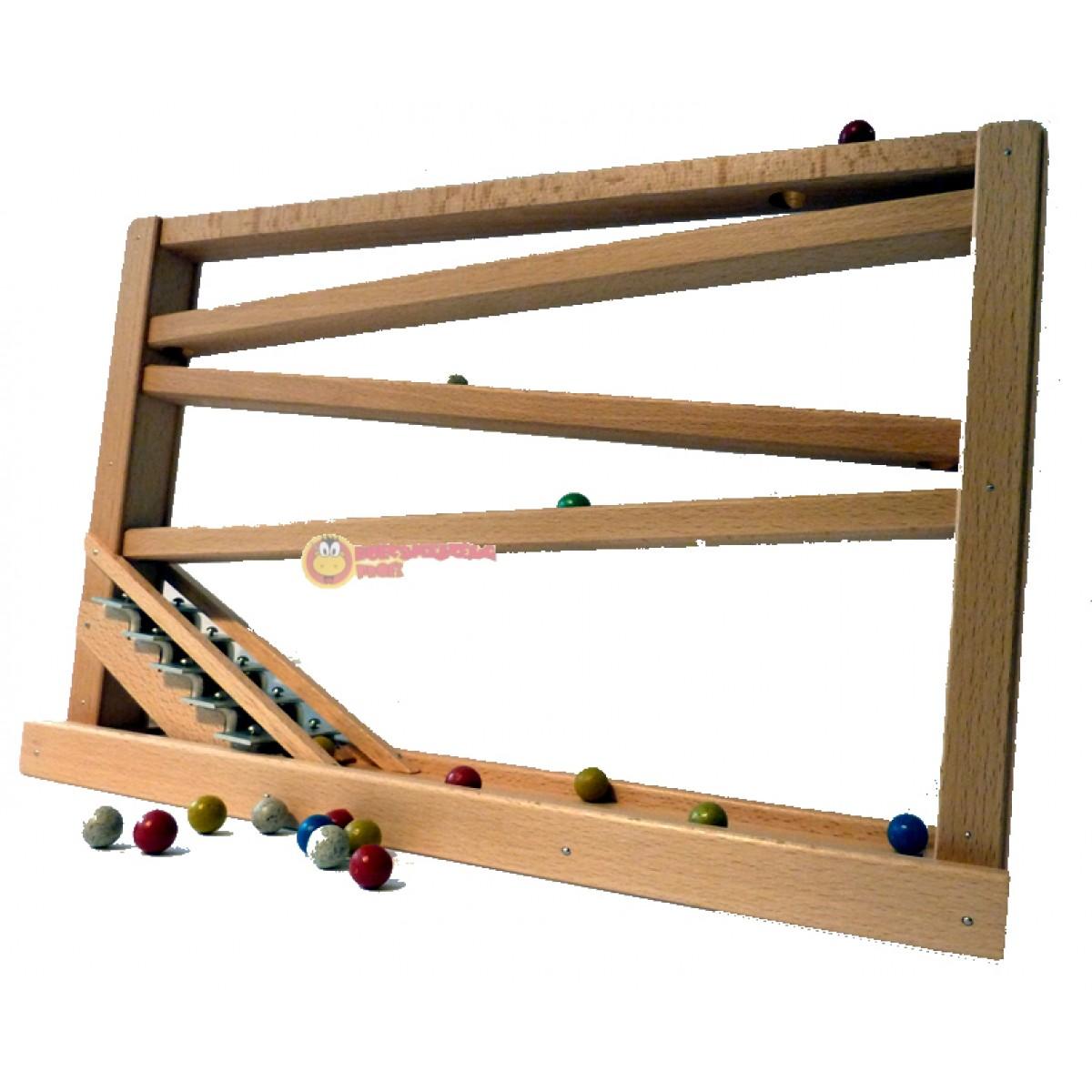 beck kugelbahn mit glockenspiel natur holzspielzeug profi. Black Bedroom Furniture Sets. Home Design Ideas