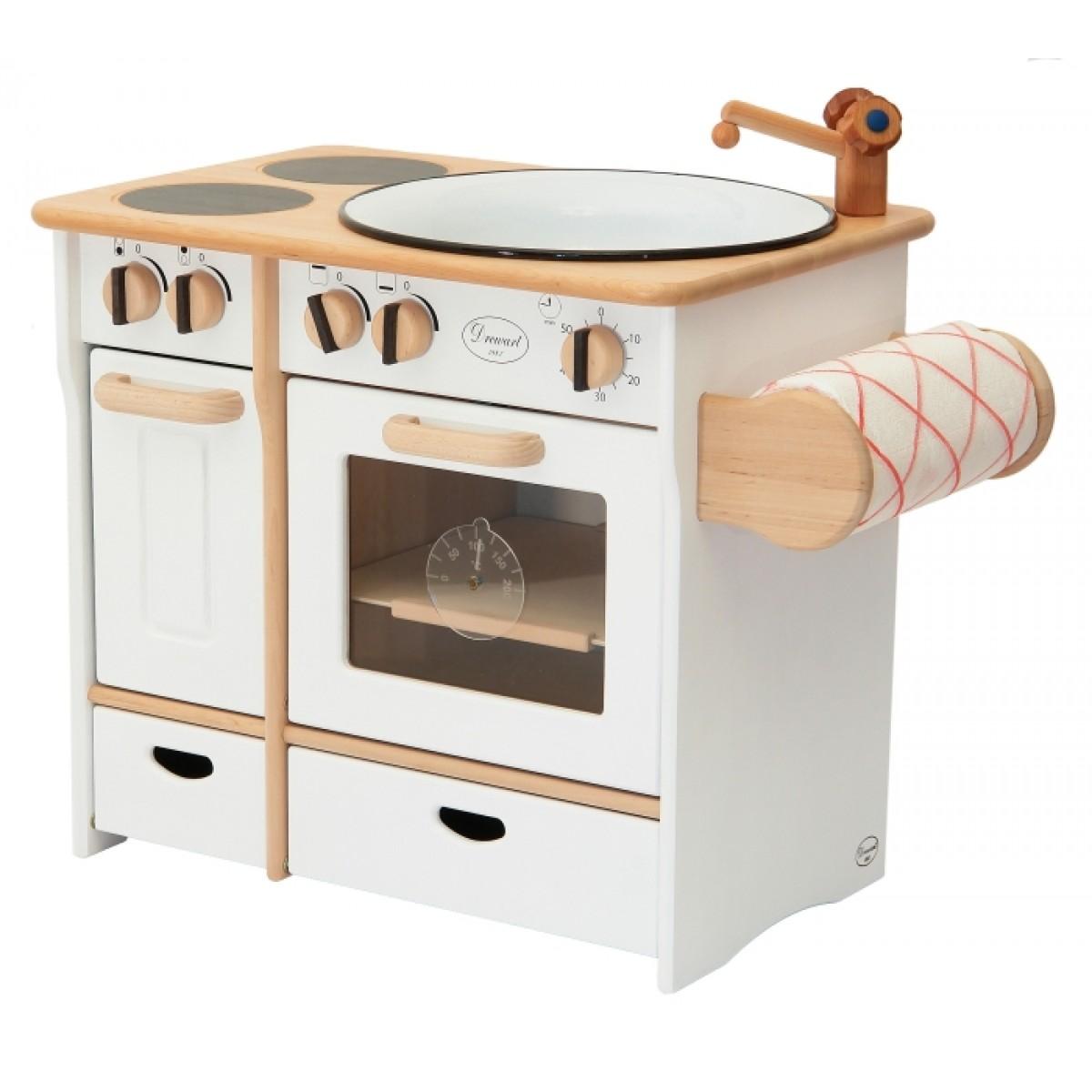 SUN Kinderküche Gourmet Station in weiß: Holzspielzeug Profi