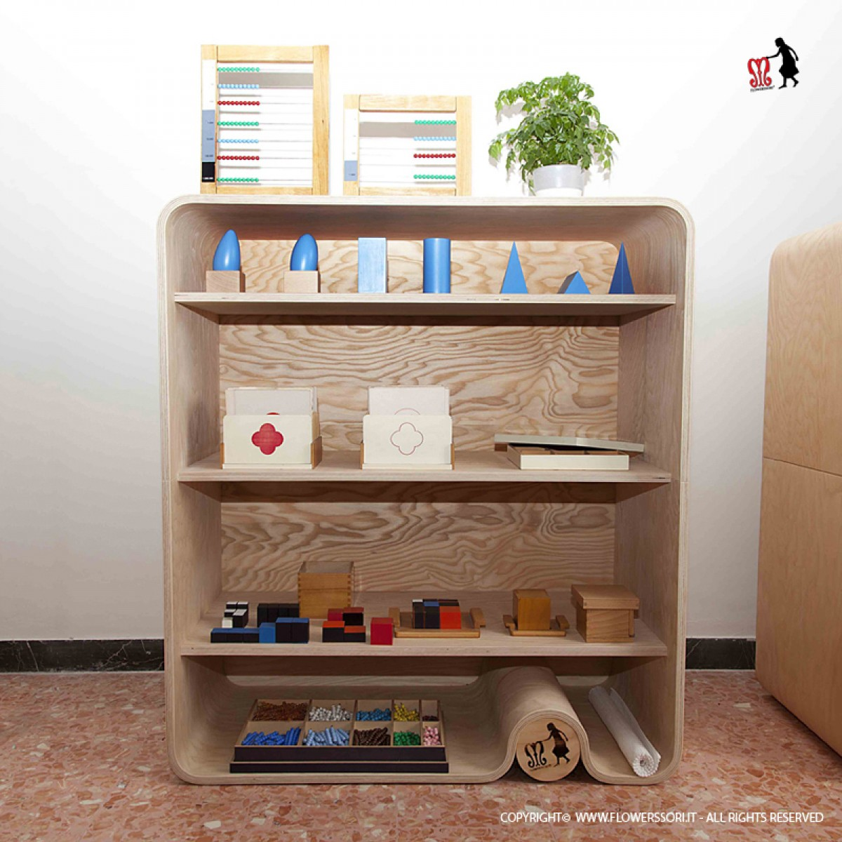 flowerssori b cherregal design beim holzspielzeug profi. Black Bedroom Furniture Sets. Home Design Ideas