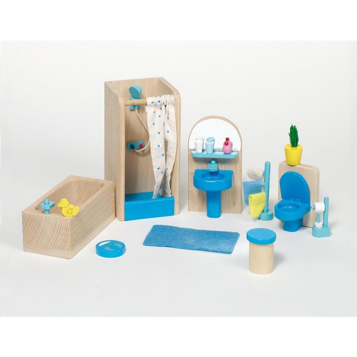 puppenm bel badezimmer f r das puppenhaus vom. Black Bedroom Furniture Sets. Home Design Ideas