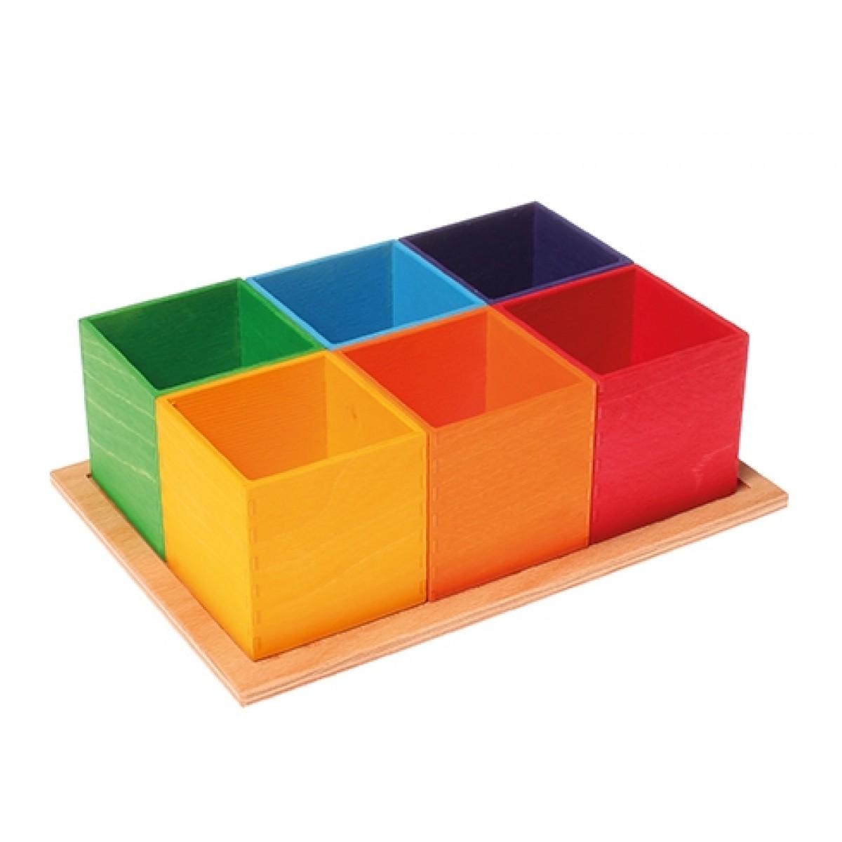 grimm s kleine sortierhilfe 6 kisten beim holzspielzeug profi. Black Bedroom Furniture Sets. Home Design Ideas
