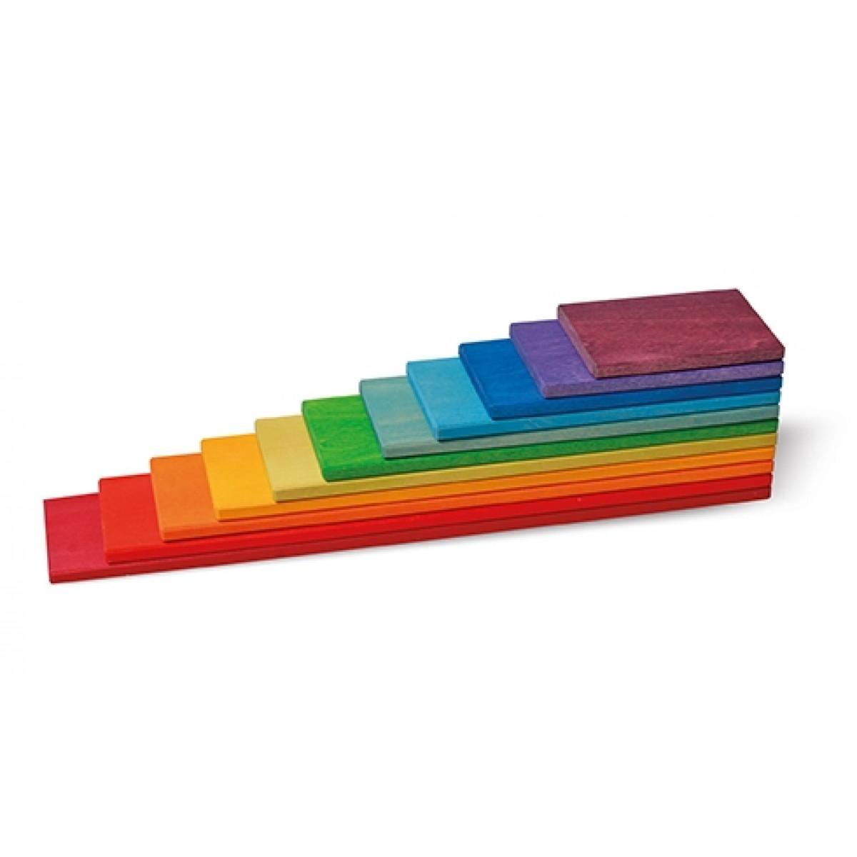 oder Regenbogenplatten Holzspielzeug Grimms Pastell