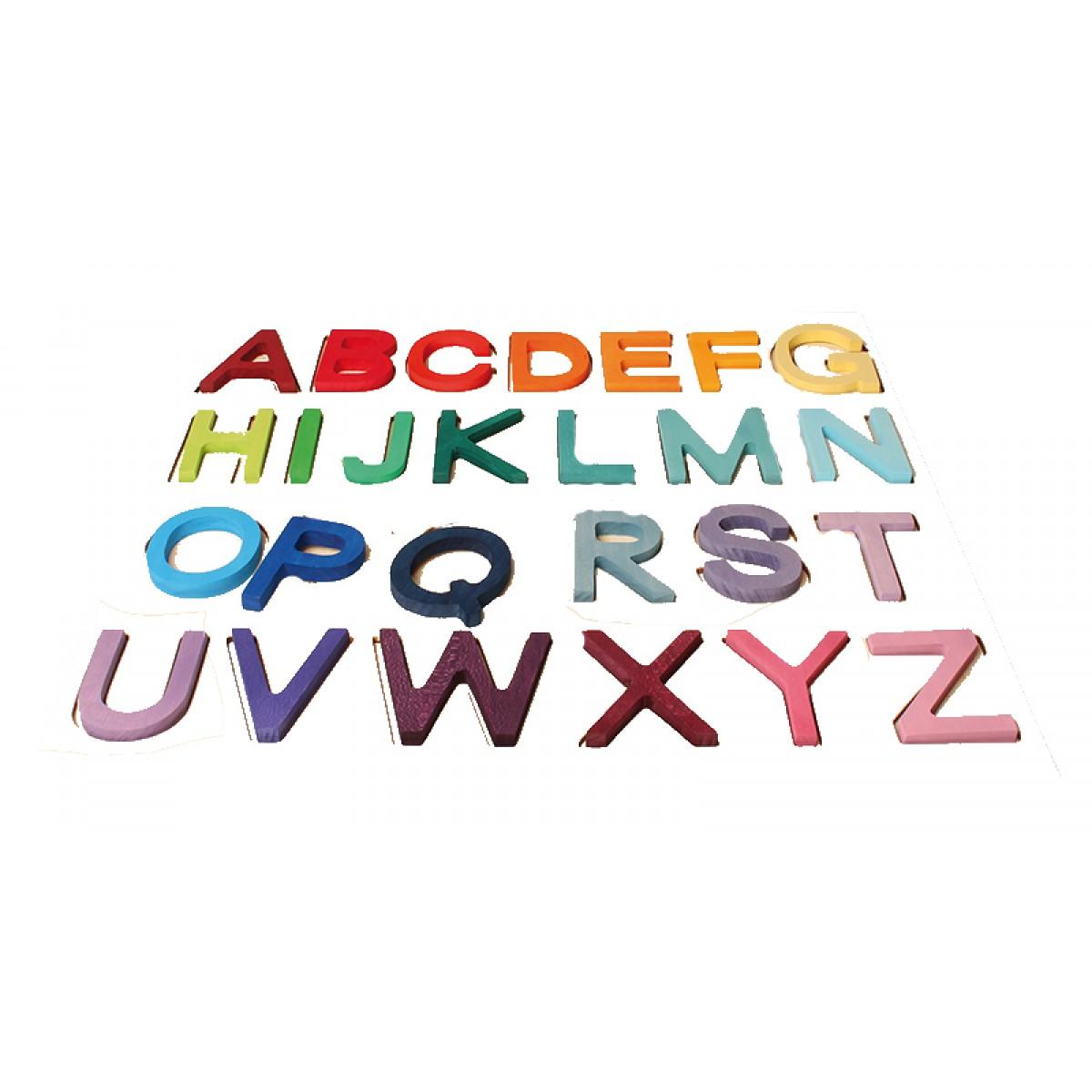 grimm s lernbuchstaben abc in schulschrift holzspielzeug. Black Bedroom Furniture Sets. Home Design Ideas