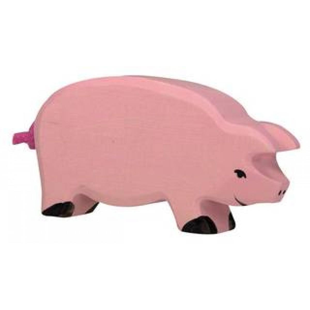Holztiger schwein rosafarbene schweinemama for Holzspielzeug profi