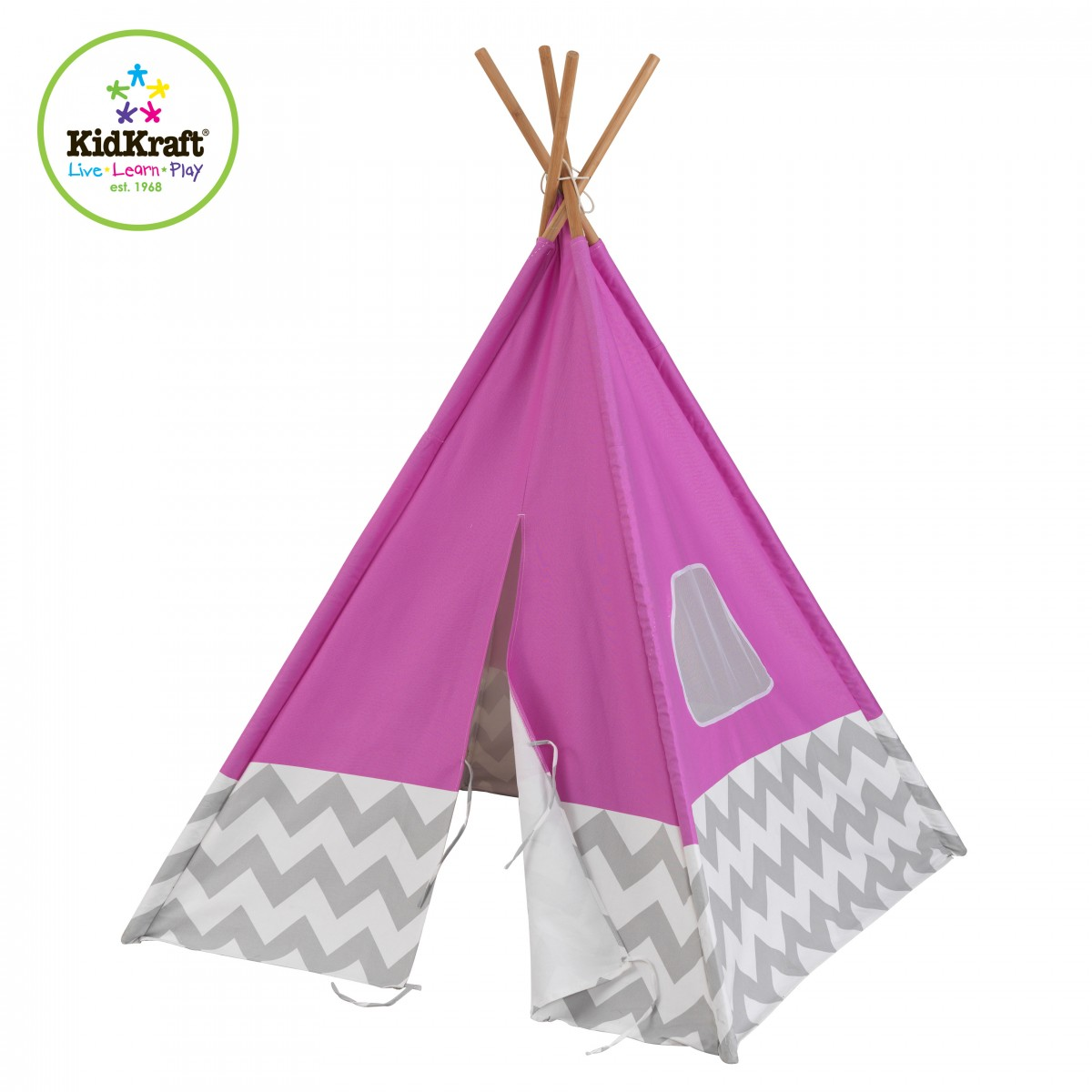 kinderzelt tipi pink von kidkraft beim holzspielzeug profi. Black Bedroom Furniture Sets. Home Design Ideas