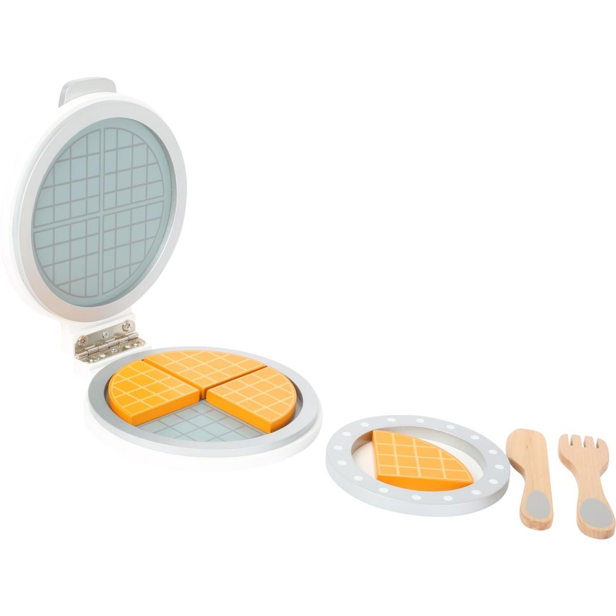 Waffeleisen aus holz von small foot holzspielzeug profi for Holzspielzeug profi