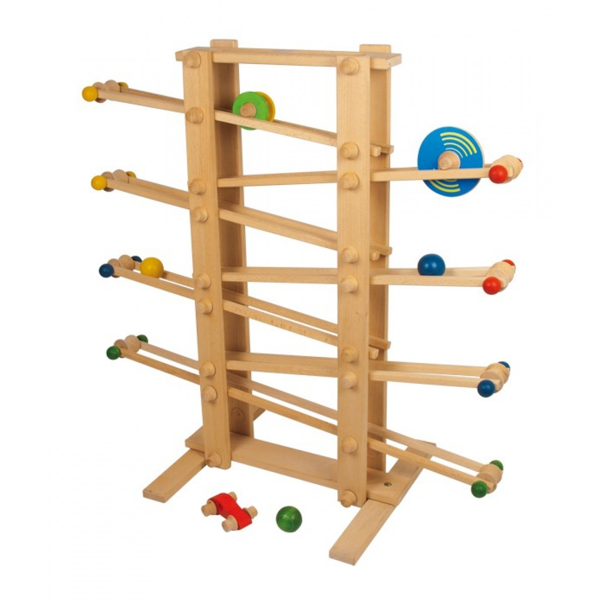 Kugelbahn gigant aus robusten buchenholz beim for Holzspielzeug profi