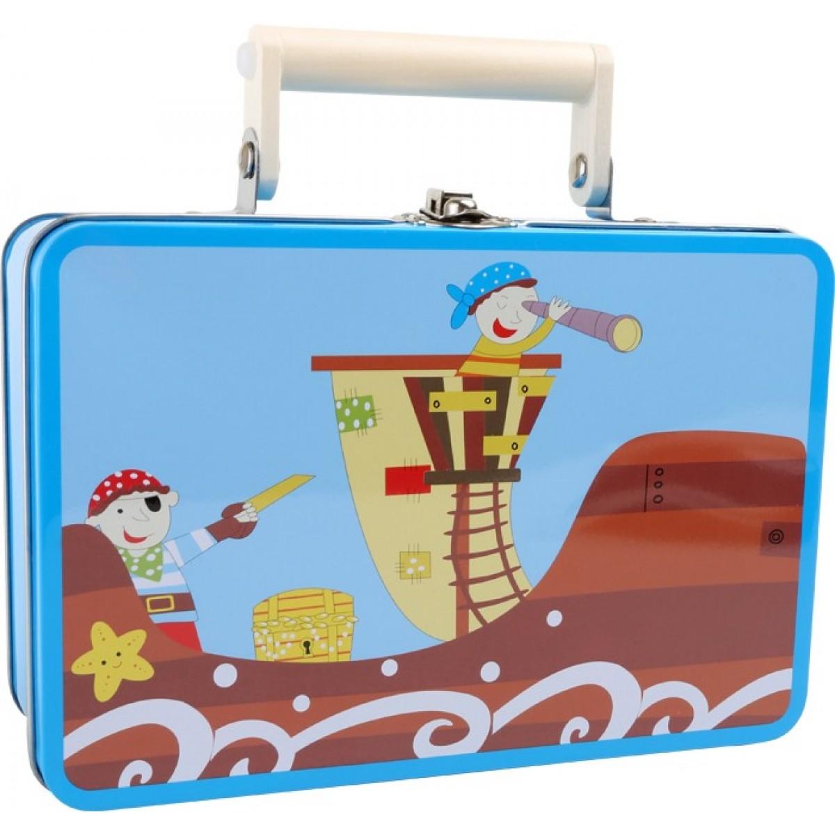 Kinderkoffer Piraten-Set zum Verkleiden: Holzspielzeug Profi