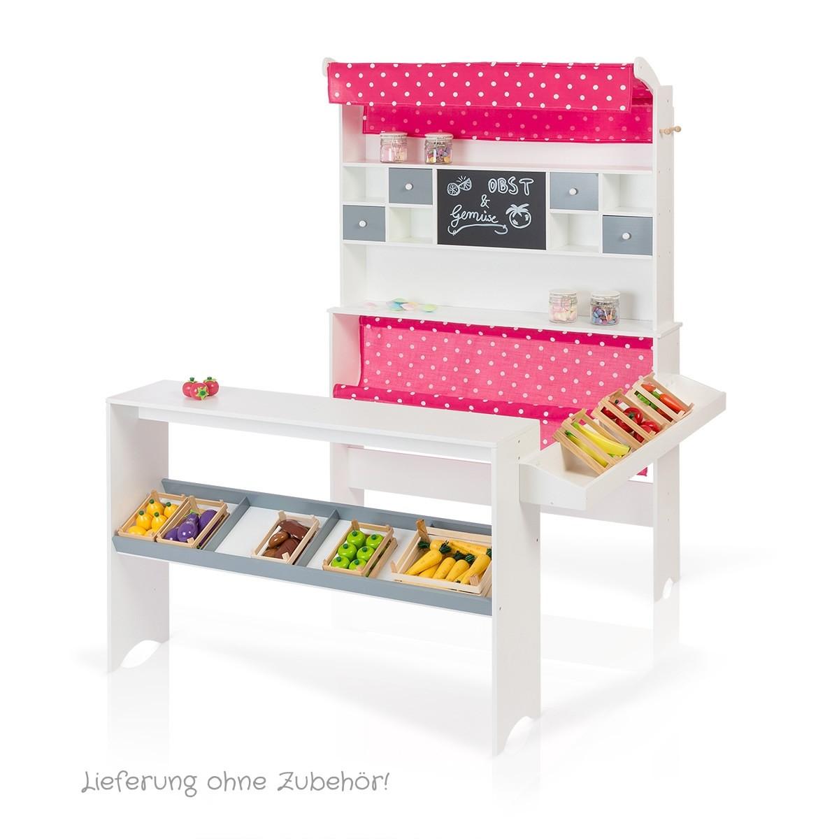 sun kaufladen in weiß-pink: holzspielzeug profi