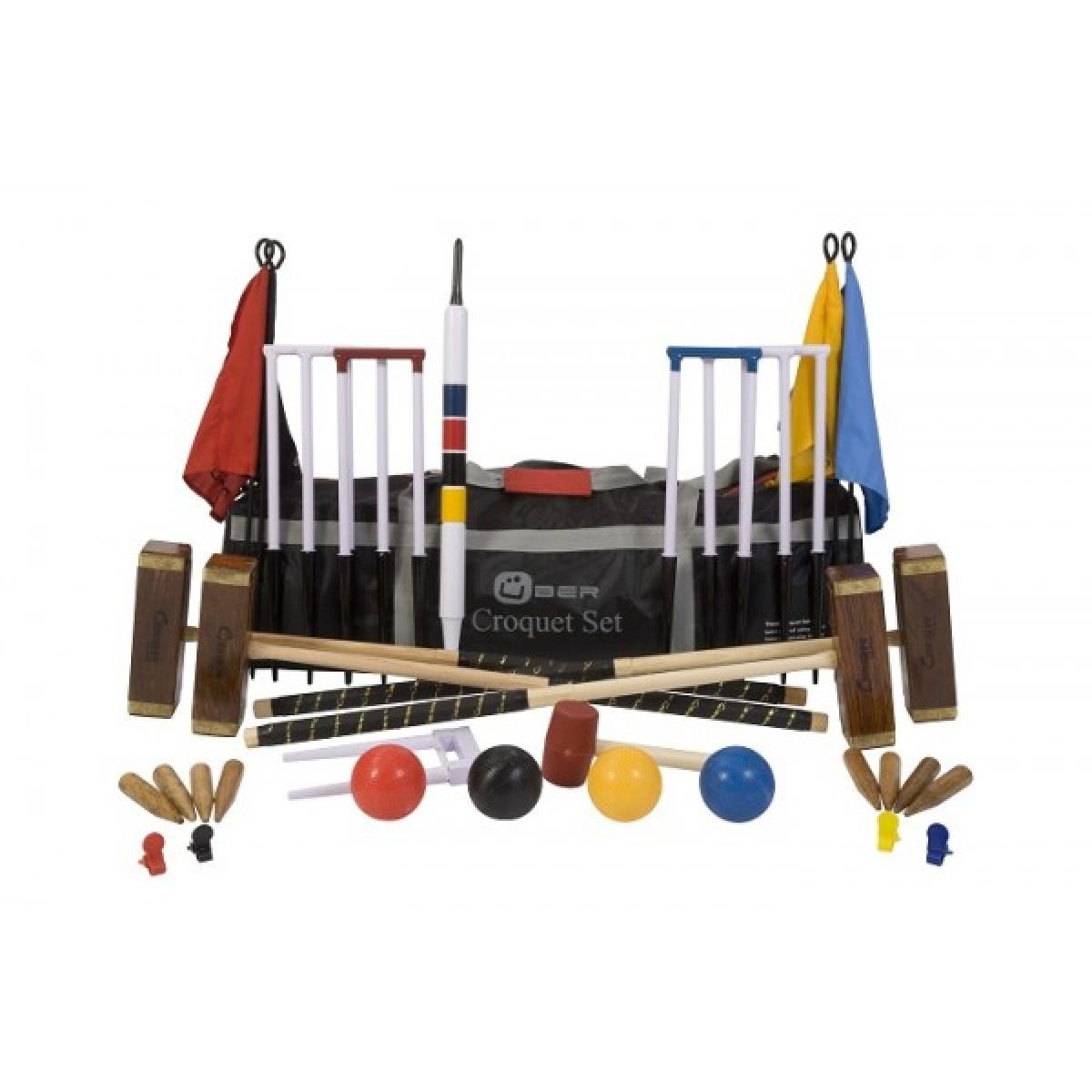championship croquet set von bergames beim holzspielzeug profi. Black Bedroom Furniture Sets. Home Design Ideas