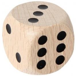 Holzwürfel mit Augen, 30 mm Kantenlänge