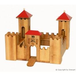 Drewart Kleines Schloss mit rotem Dach - Holzspielzeug Profi