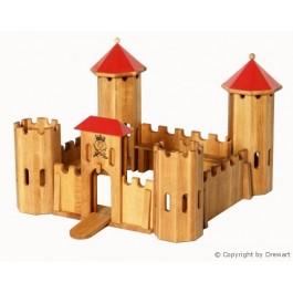 Drewart mittelgroßes Kastell mit roten Dach Holzspielzeug