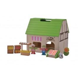 EverEarth Bioladen Puppenhaus - Holzspielzeug Profi