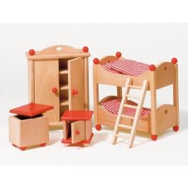Puppenmöbel Kinderzimmer rustikal
