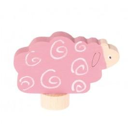 GRIMM´S Stecker liegendes Schaf - Holzspielzeug Profi
