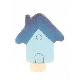 GRIMM´S Stecker Haus blau - Holzspielzeug Profi