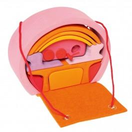 GRIMM´S Rosa-orangenes Bauhaus - Holzspielzeug Profi