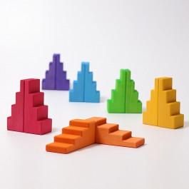 GRIMM´S Treppendächer Regenbogen - Holzspielzeug Profi
