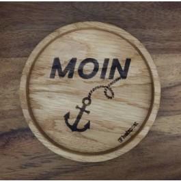 Holzpost® Untersetzer Bierdeckel Moin - Holzspielzeug Profi