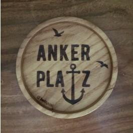 """Holzpost® Untersetzer Bierdeckel """"Ankerplatz"""" - Holzspielzeug Profi"""