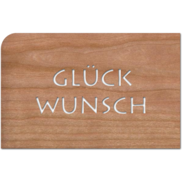 """Holzpost Grußkarte """"Buchstaben Glückwunsch"""": Vorderseite - Holzspielzeug Profi"""