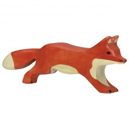 Holztiger Fuchs laufend- Holzspielzeug Profi