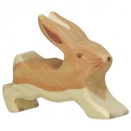 HOLZTIGER Kleiner Hase laufend - Holzspielzeug Profi