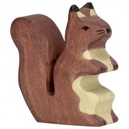 Holztiger Braunes Eichhörnchen - Holzspielzeug Profi