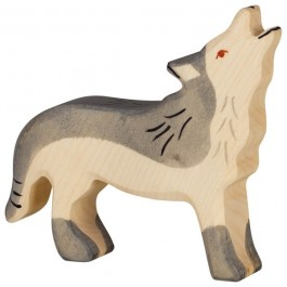 Holztiger Heulender Wolf - Holzspielzeug Profi