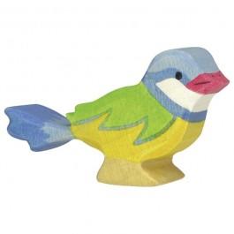 Holztiger Vogel Blaumeise - Holzspielzeug Profi