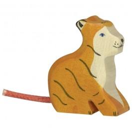 Holztiger Kleiner Tiger sitzend - Holzspielzeug Profi