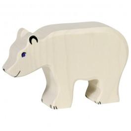 Holztiger Eisbär fressend - Holzspielzeug Profi