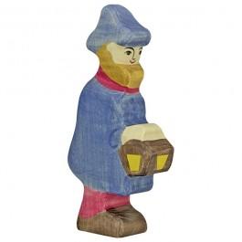 HOLZTIGER Hirte mit Lampe - Holzspielzeug Profi