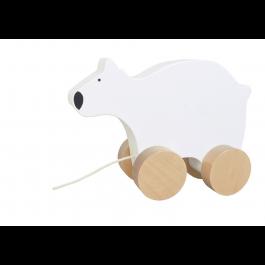 JaBaDaBaDo Nachzieh Eisbär - Holzspielzeug Profi