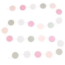 JaBaDaBaDo Papier-Girlande Dots rosa - Holzspielzeug Profi
