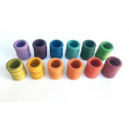 Grapat 72 Ringe (12 Farben) - Holzspielzeug Profi