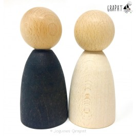 Grapat 2 große, helle Nins® - Holzspielzeug Profi