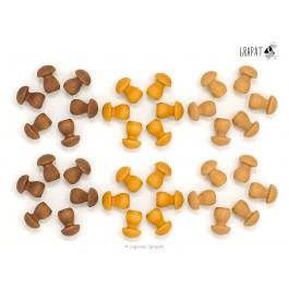 Grapat Mandala Kleine Pilze  - Holzspielzeug Profi