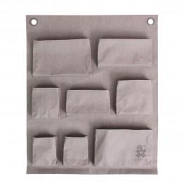 sebra Wandaufbewahrung aus Papier in hellgrau mit 8 Fächern - Holzspielzeug Profi
